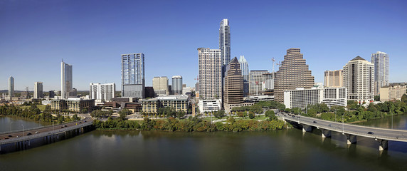 A View of the Skyline Austin at Sunny Day in Texas