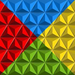 dreieck-hintergrund rot-blau-grün-gelb