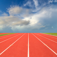 Fototapete - Running track with blue sky