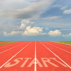 Fototapete - Start on running track