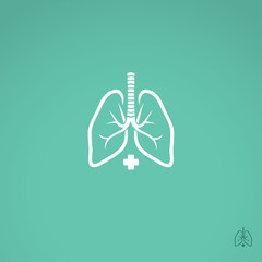 Lungs sign - hospital label