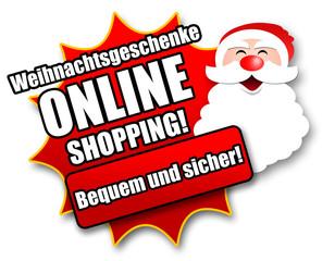 """Siegel """"Weihnachtsgeschenke - Online Shopping!"""""""