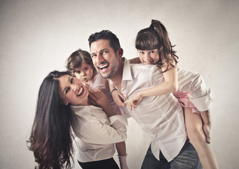 Wall Mural - Happy Family