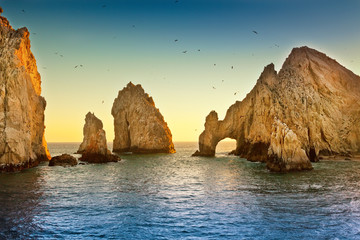 Spoed Fotobehang Mexico Land's End