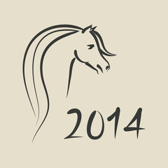 year of horse 2014 background