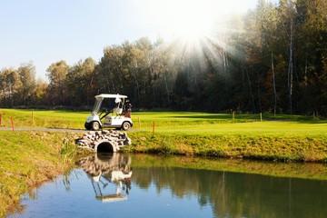 Golf-cart car on golf course