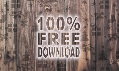 wooden 100 percent free download symbol with presents