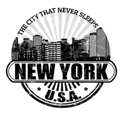 New York ( The city that never sleeps) stamp