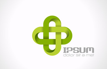Logo Pharmacy Green cross. Hospital clinic medicine vector