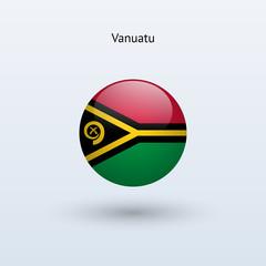 Vanuatu round flag. Vector illustration.