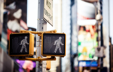 Keep walking New York traffic sign Fotomurales