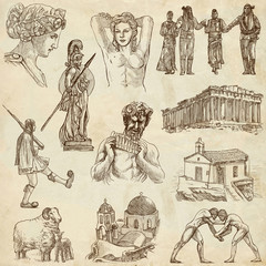 Traveling: GREECE, part 3 - Collection of an hand drawings.