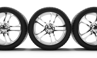 3d rendered illustration of some tires