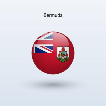 Bermuda round flag. Vector illustration.