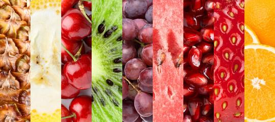 Healthy fresh fruits