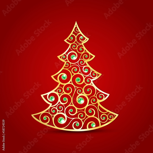 Gold Christmas Tree Stock Image And Royalty Free Vector Files On