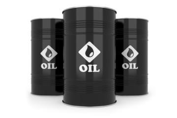 Black oil barrels