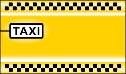 yellow modern taxi stop background
