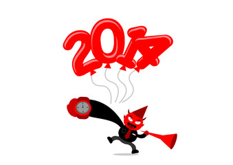new year themes cartoon character
