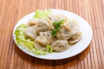 Boiled pelmeni