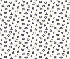 Seamless web icons and simbols pattern