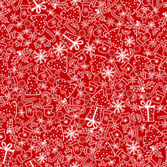 Christmas background, seamless tiling