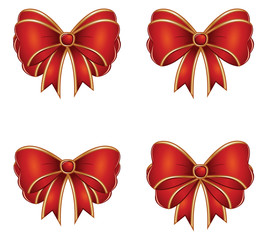 Red gift bows