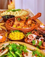 Festive Thanksgiving table