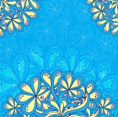 greeting card with symmetrical patterns