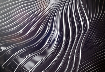 Abstract metal silver stripes art background