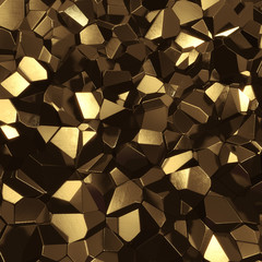 Abstract golden high tech geometric 3d background