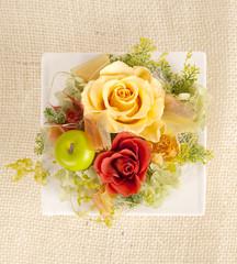Rose flowers arrangement