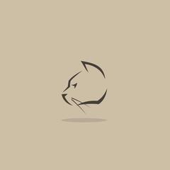 Cat head sign