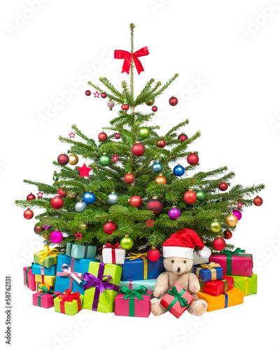 bunt geschm ckter weihnachtsbaum stockfotos und lizenzfreie bilder auf bild 58762131. Black Bedroom Furniture Sets. Home Design Ideas