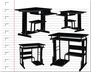 black table on paper