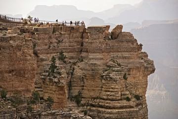 Wall Mural - Tourists in Grand Canyon