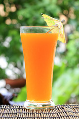 Glass of of orange juice
