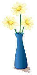 Flowers inside a vase