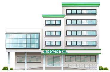 A hospital building