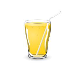vector glass on soda