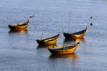 wooden boats sea