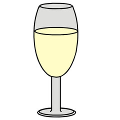vector drawing of a wine glass