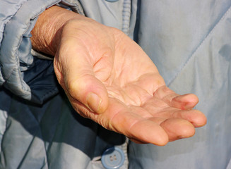 hands of a beggar