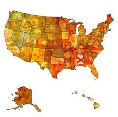 alabama on map of usa