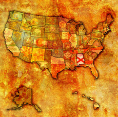 alabama on map of usa