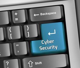 "Keyboard Illustration ""Cyber Security"""