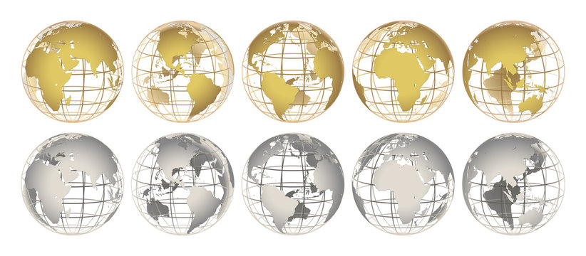 GOLD and SILVER globes