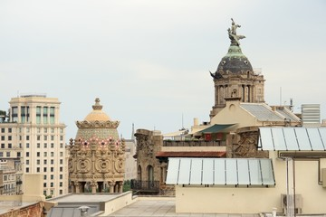 View from the rooftop of the house Casa Batllo