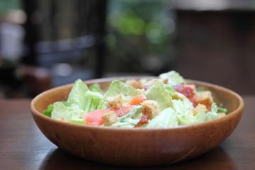 ceacar salad in close up