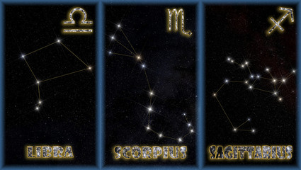 The autumn signs of the zodiac